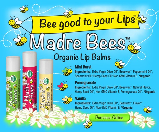 Bee naturals Органические гигиенические помадки (6 вкусов и ароматов) 4.2г.