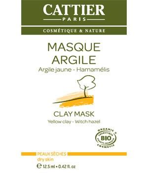 Cattier Органическая Желтая маска для нормальной и сухой кожи 12.5г. (1 саше)