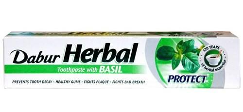 Dabur Аюрведическая зубная паста без фтора Базилик 150г
