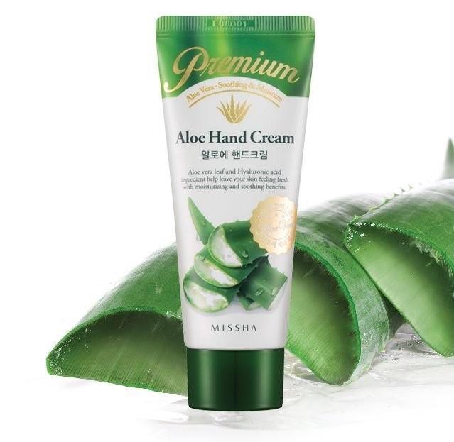 MISSHA (Корея) Крем для рук с алое Premium Aloe Hand Cream, 60 мл.