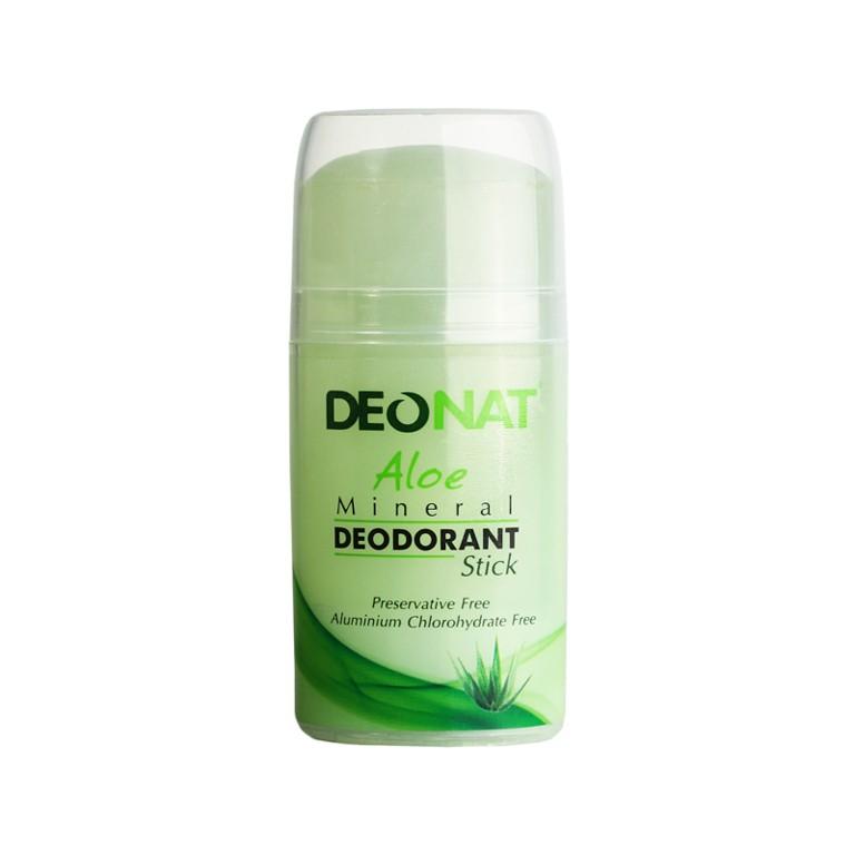 DeoNat Минеральный дезодорант на базе квасцов с Алое  100г